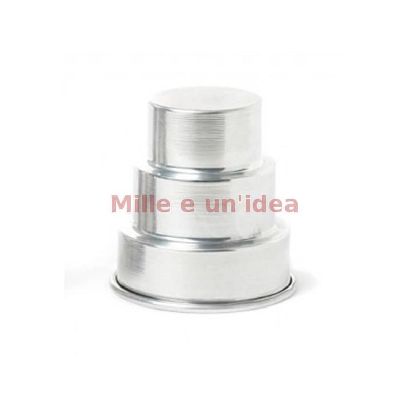 Stampo mini wedding cake 3 piani 7x8 cm Decora
