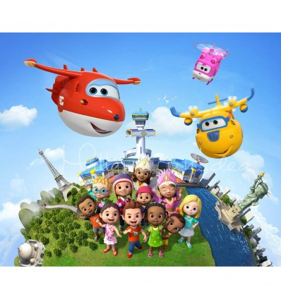 Cialda per torta Super Wings 1