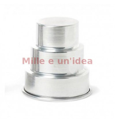 Stampo mini wedding cake 3 piani 7x8 cm Decora