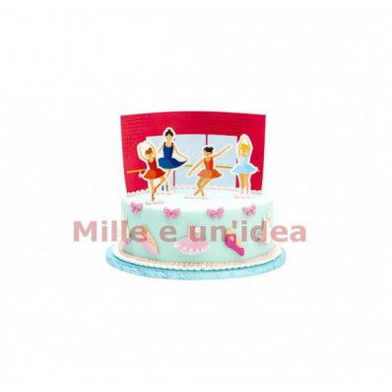 Kit torta ballerina 5 pezzi Decora