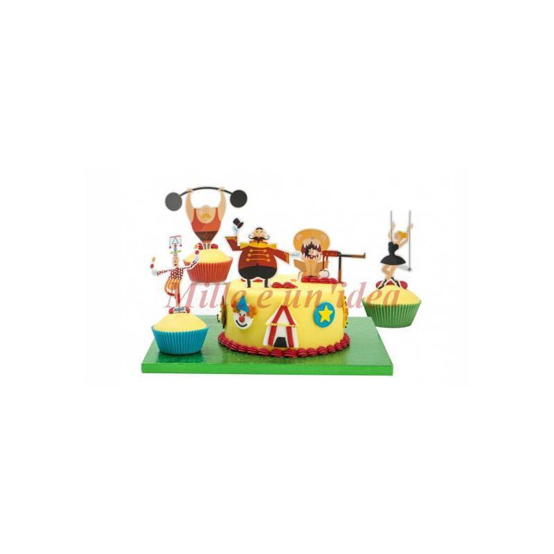 Kit torta circo 5 pezzi Decora