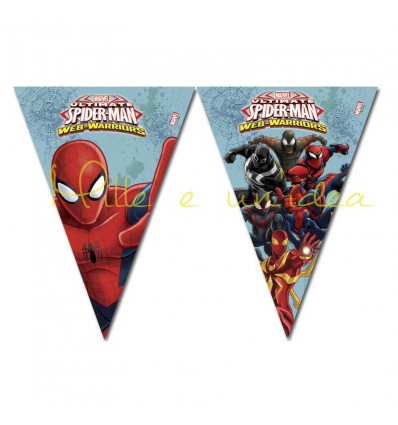 Bandierine Spiderman in pvc, 2,3 metri